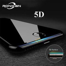 5d 전체 커버 가장자리 강화 유리 아이폰 7 8 6 플러스 스크린 프로텍터 아이폰 6 6s 7 플러스 xr xs 최대 필름 보호 유리