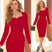 Brandwen Ladies Elegant Business Suits Blazer with Skirts Formal Office Suit Work Female Uniform Designs Career Pencil Dress