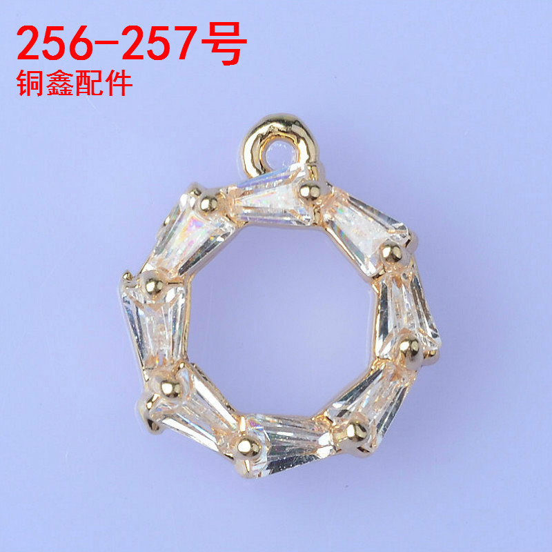 10pcs 10*12mm High quality Goldsilver Color Zircon Material Circle Charm Crystal Charm For Necklace DIY Handmade Jewelry Making