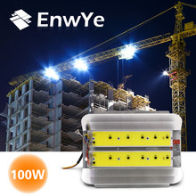 EnwYe 100W COB Simple floodlight Flood Light 220V LED Spotlight Refletor LED Outdoor Lighting Gargen Lamp newest(China)