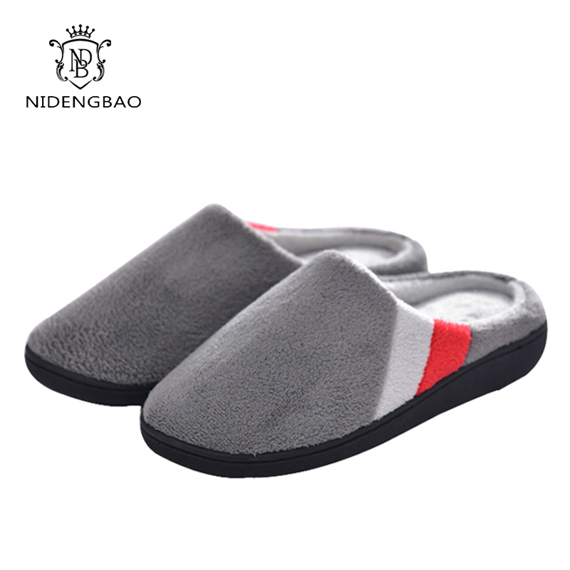 Winter Couple Bedroom Slippers Big Size Men Warm Soft Cotton Shoes Flannel Indoor Floor Women Home Shoes House Furry Slippers women floral home slippers cartoon flower home shoes non slip soft hemp slippers indoor bedroom loves couple floor shoes