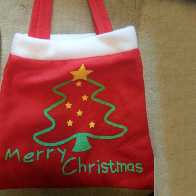 f016a1a40424 Creative Christmas Tree Pattern Santa Claus Gift Holders Candy Bag Handbag  Home Party Decoration Gift Bag Christmas Supplies