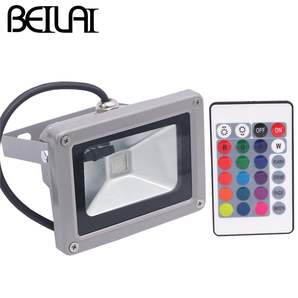 BEILAI RGBW RGBWW RGB LED Flood Light 10W 20W 30W 50W AC85-265V Outdoor Lighting Waterproof Floodlight Spotlight Garden lights 25% off 2017 modern style ultrathin led flood light 30w 50w ac85 265v waterproof ip65 floodlight spotlight outdoor lighting