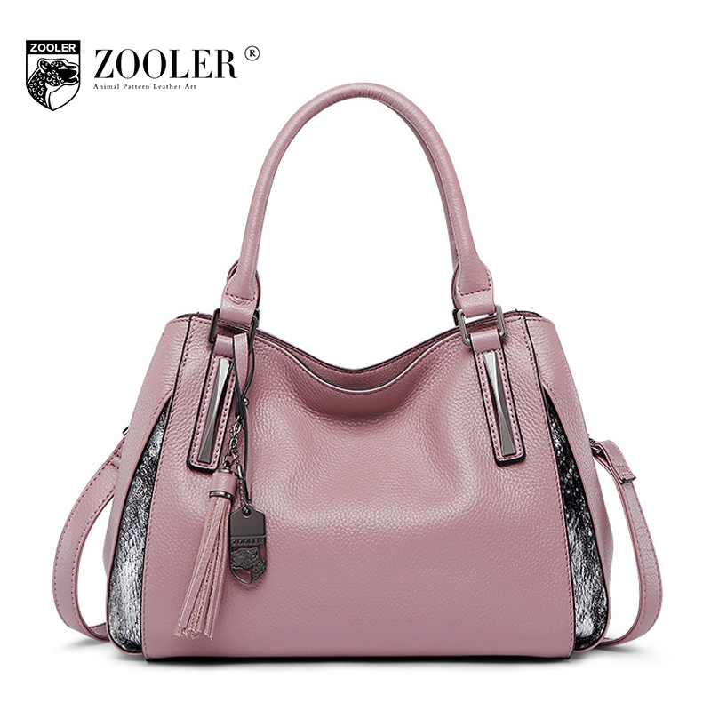 ZOOLER 2018 Fashion Women Real Genuine Leather Bag Ladies Casual Soft Shoulder Messenger Bags Handbags Women Famous Brands Tote zooler genuine leather genuine real cowhide small handbags high quality brand women plaid shoulder bags chain tote crossbody bag