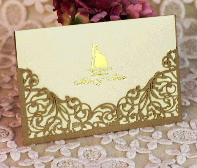 one set sample laser cut wedding invitations card with envelope