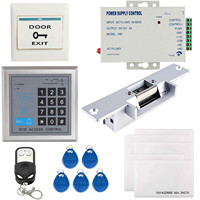 OBO HANDS Full Complete 125KHz EM ID Card Single Door Access Control Keypad System Kit With