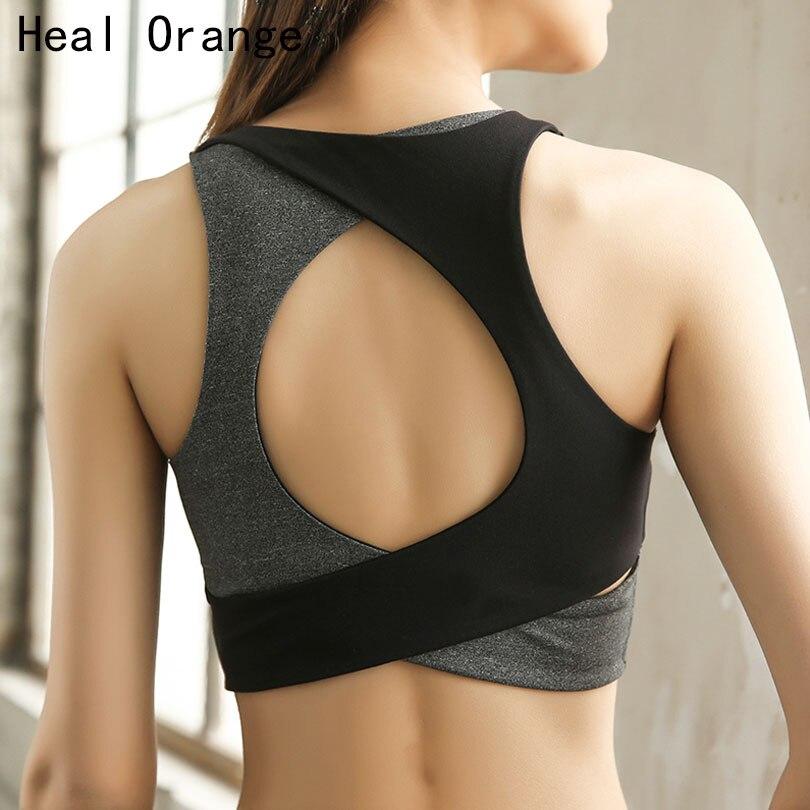 HEAL ORANGE Women Sport Bra Brassiere Sport Top Fitness Push Up Gym Bra Workout Bra Active Wear Sports Wear For Women Gym цена