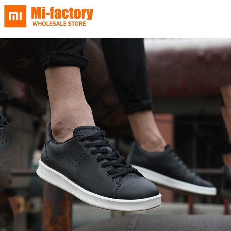 Новые xiaomi обувь из натуральной кожи Удобные амортизацией модные удобные дышащие Дизайн высокого качества