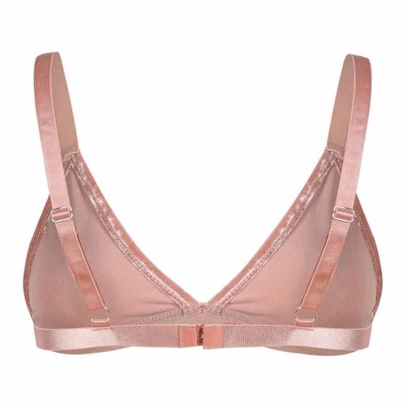 1499777f1a HDY Haoduoyi Fashion Women Pink Velvet Bralette Bralet Top Bustier Basic  Bra Push Up Bras Wire Free Underwear Lingeries-in Bras from Underwear    Sleepwears ...