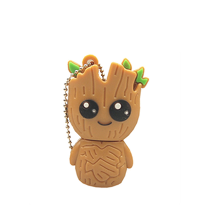 Creative Groot Cartoon Usb Flash Drives Guardians of The Galaxy Fashion Pen Drive 4gb 8GB 16GB 64GB Memory Stick Pendrive 32gb(China)