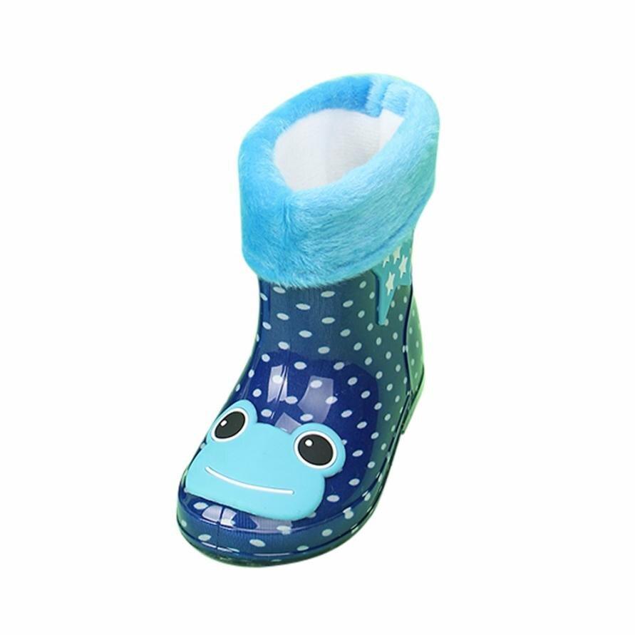 BMF TELOTUNY Fashion Waterproof Child Animal Rubber Infant Baby Rain Boots Kids Warm Cartoon Rain Shoes Boots Apr26 Drop Ship