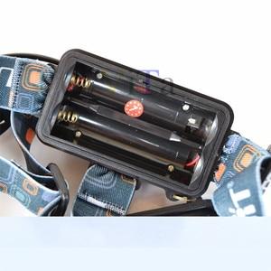 Image 2 - 3 Led scheinwerfer 8000LM XM L T6 UV Led scheinwerfer 395nm Uv Wiederaufladbare stirnlampe lampe frontale 18650 Ladegerät