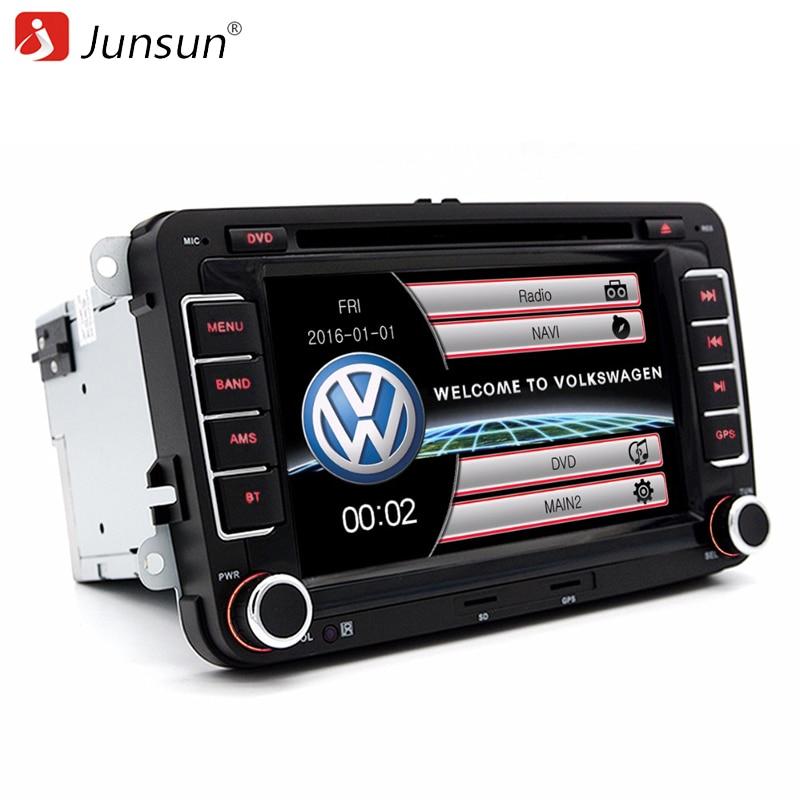 junsun 7 double din car gps dvd radio player for vw volkswagen passat golf skoda seat gps audio. Black Bedroom Furniture Sets. Home Design Ideas