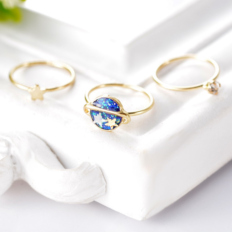 1Set 3pcs New Enamel Universe Stars Knuckle Rings Band Midi Rings ...