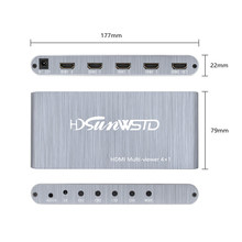 Conversor sem emenda do divisor da tela do interruptor do multiviewer do switcher completo 1080p do quadrilátero de hd 4x1 para o computador portátil paly
