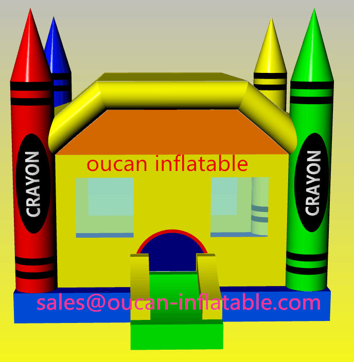 oxford cloth inflatable crayon bouncer, commercial bounce houses, inflatable crayon bounce house