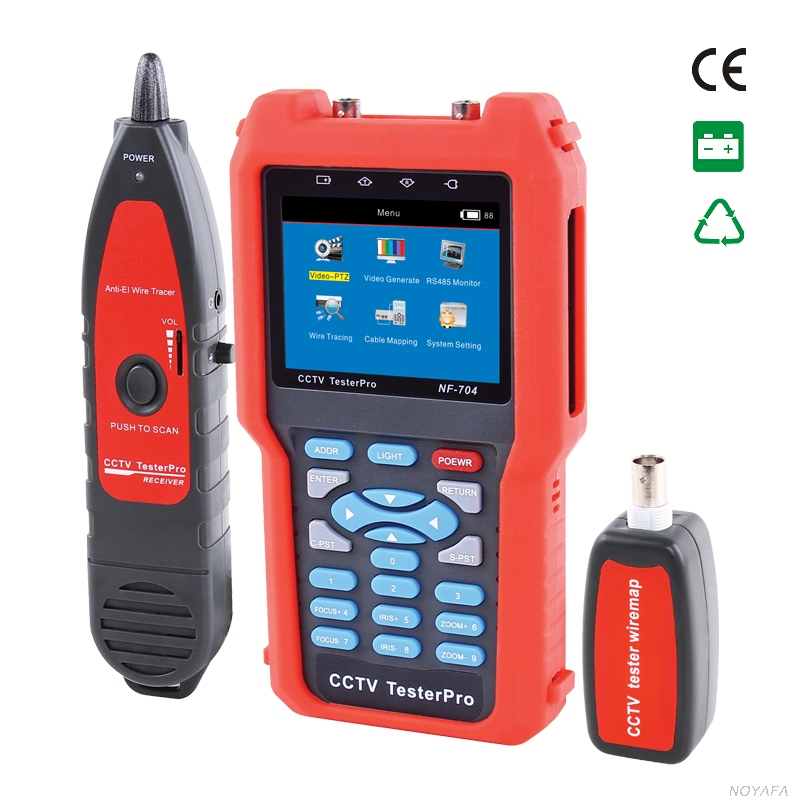 CCTV monitor testers Tester NF-704 Video Level testing, video signals measured in IRE or Mv Digital multimeter