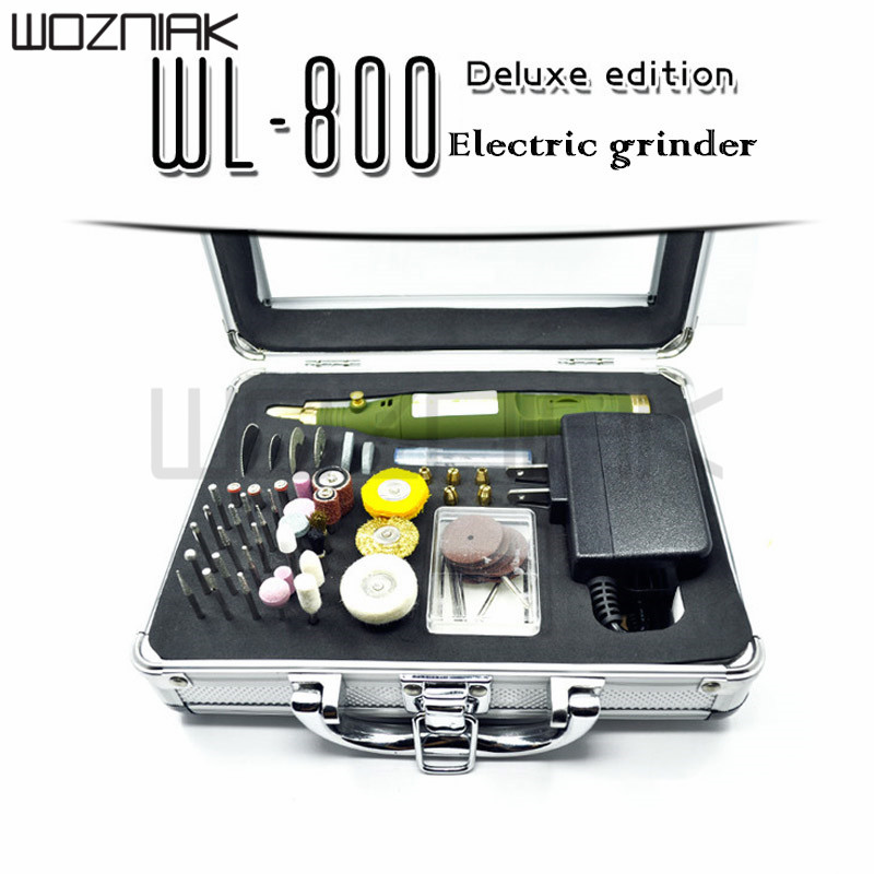 Mini electric grinding speed adjustable electric drill WL800 deluxe version of 80 pieces polishing pen. 2 pieces of e1 electric wireless
