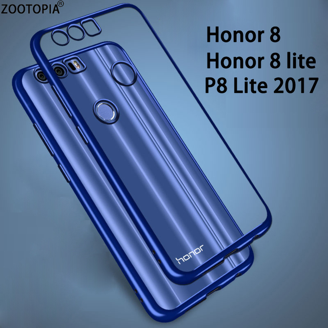 best loved 4f93d 27025 For Huawei Honor 8 Case Silicone Plating Bumper Clear Soft Tpu Cover for  Honor 8 Lite for Huawei P8 Lite 2017 Coque Fundas Capa-in Phone Bumper from  ...