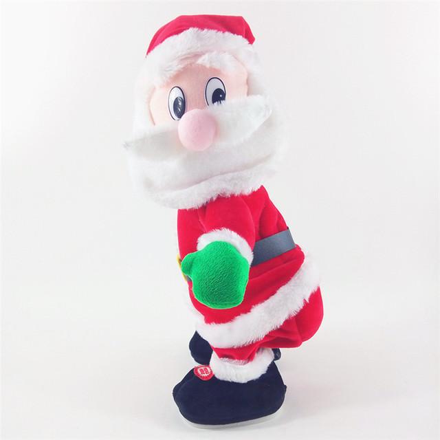 2016 el nuevo Santa Claus va a cantar y bailar de peluche juguete juguetes eléctricos Regalo creativo de Navidad Niño Niña Juguete casa decoración