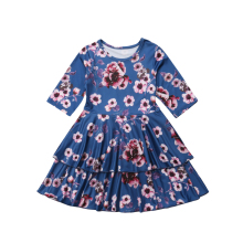 цена на New Baby Girl Flower Dress Kids Pageant Wedding Formal Party Tutu Gown Princess Dress