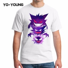 Yo-Young Men T Shirts Fashion POKEMON Customized