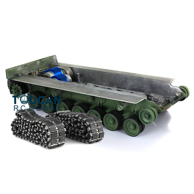 Leopard2A6 RC Tank Full Metal Chasis Assembly T1 Tracks Roadwheel GN Color 1 16 TH00964