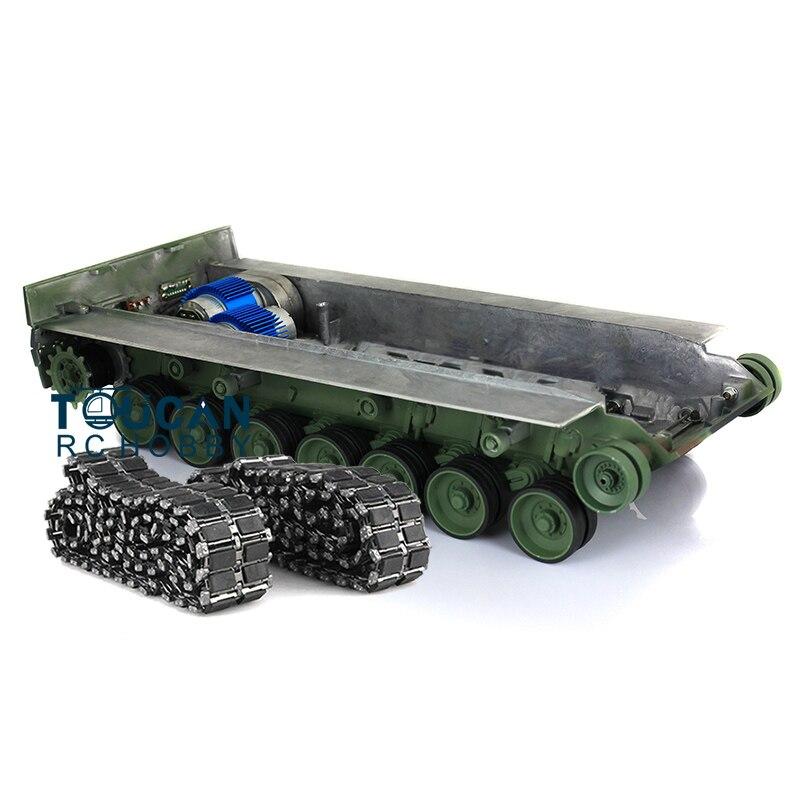 Leopard2a6 rc 탱크 풀 메탈 샤시 어셈블리 t1 트랙로드 휠 gn 컬러 1/16 th00964-에서부품 & 액세서리부터 완구 & 취미 의  그룹 1