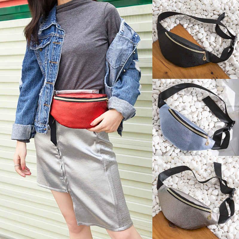 2019 最新スタイルウエストバッグファッション男性女性ベルトランニングベルトバッグ防水 Pu レザー胸パック腹バムヒップバッグ