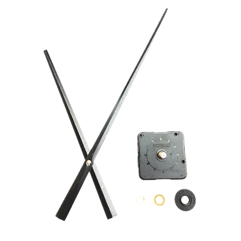 50 Sets Wholesale Long Hands Clock 13 5MM Shaft Quartz Clock Movement Mechanism Kits DIY