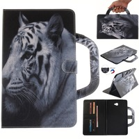 UVR Leather Case For Samsung T580 Colorful Painted Flip PU Stand Case Cover For Samsung T580
