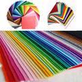 10 unids Artesanías DIY Colorful Espesor 1mm Fieltro de Poliéster Tela Patchwork Tela Patchwork Hecho A Mano de Costura de Tela (Color Al Azar)