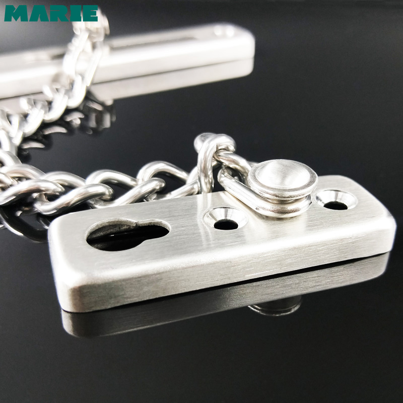 DG003 Sliding Door Lock Stainless steel 304 Door Lock Chain Bolt Safety Chain Hotel Office Security Chain Gate Cabinet Latches in Door Chains from Home Improvement