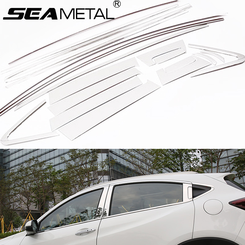 Car Whole Window Strip Cover Protection For Honda HR-V HRV Vezel 2014 2015 2016 Auto Decoration Accessories Car Styling OEM-20