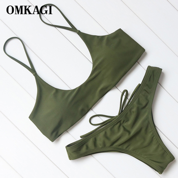 OMKAGI Brand Bikini 2018 Swimsuit Women Swimwear Biquinis Sexy Push Up Bikinis Set Swimming Bathing Suit Maillot De Bain Femme