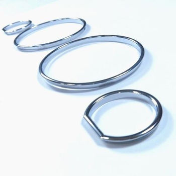 Chrome Dash Gauge Ring Set For BMW E32 / E34 Models image