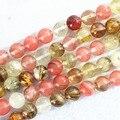"Fashion watermelon Tourmaline stone 4mm 6mm 8mm 10mm 12mm 14mm round loose beads diy jewelry making 15"" B491"