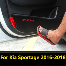 цены Car Styling Door Protector Pad Door Plank Anti Kick Pad Mat Interior Decoration For Kia Sportage 4 QL 2016 2017 2018 Accessories