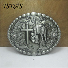 Mens Designer Metal Belt Buckles With West Cowboy Cross, Metal Belt Buckle Head For 4cm/1.57in Wide Belt FREE SHIPPING