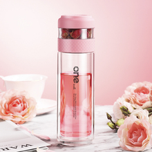 Glass Water Bottle With Tea Filter Strainer Double Wall Glass Portable Travel Tea Infuser Bottles Drinkware for Office Teapot glass bottle with tea infuser double wall glass portable travel outdoor tea tumbler bottles home office drinkware for car 350ml