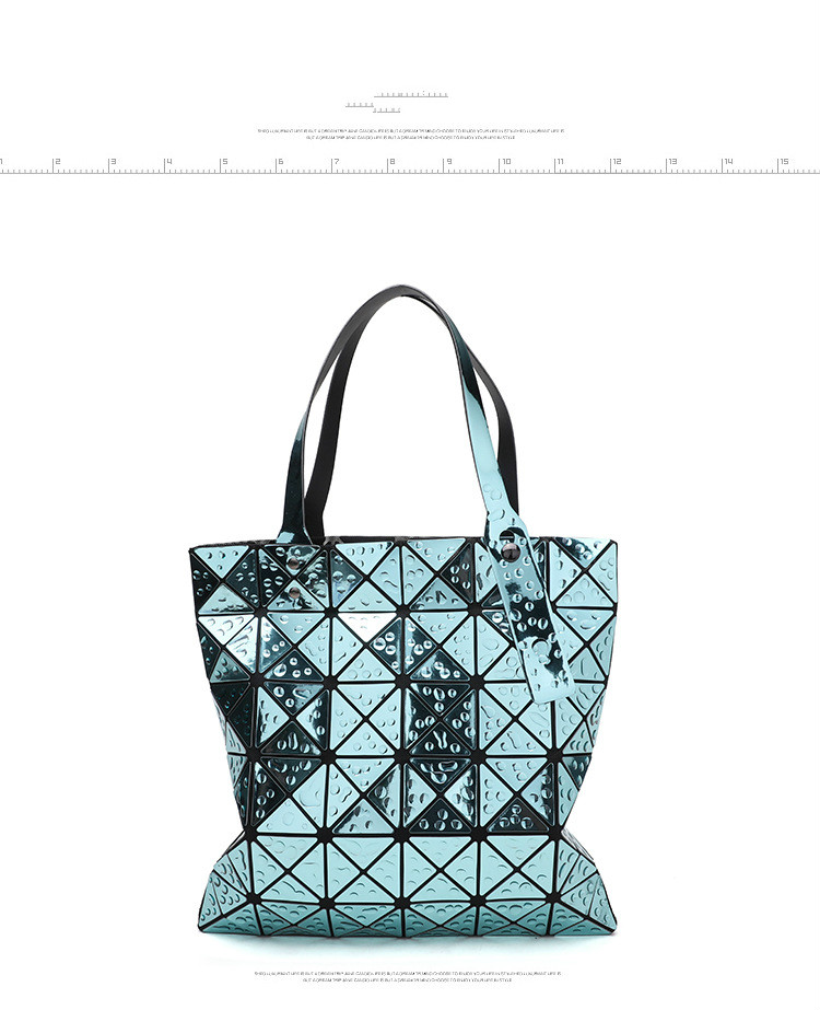 b67b519688 Mae Women Laser Geometry Bag Sequins Mirror Saser Plaid Folding Shoulder  Bags Luminous Handbag Diamond Casual Tote Bucket Bag 2017 new small solid  plaid ...