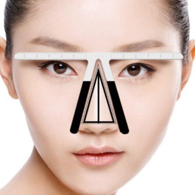 Fashion Eyebrow Tattoo Stencils Microblading Reusable Makeup Brow Measure Eyebrow Guide Ruler Permanent Tools 2