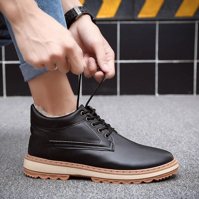 Hommes Chaud De Chaussures Hiver Coton Plus Haute bleu 9902 Velours Noir Mode Occasionnel 2018 Imperméable Sauvage Le Bottes vnXYgEx