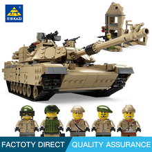 2016 newest KAZI 1 in 2 century Military M1A2 abrams tank gun deformation lobster SUV building blocks toys Compatible Legoe