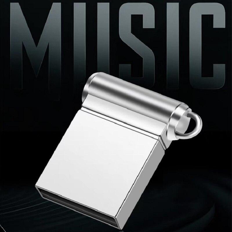 Pen Drive Black Metal 2.0 Usb Flash Drive 16gb 32gb 64gb 128gb Pendrive Super Mini Flash Memory Stick 4gb 8gb Waterproof U Disk
