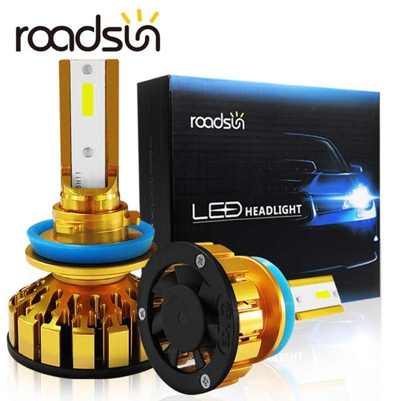 Roadsun Car Headlight Bulb F6 H7 LED H4 H11 H3 H1 HB4 9005 9006 9012 LED Conversion Kit Anti EMC 6000K Auto Car Headlight Bulbs