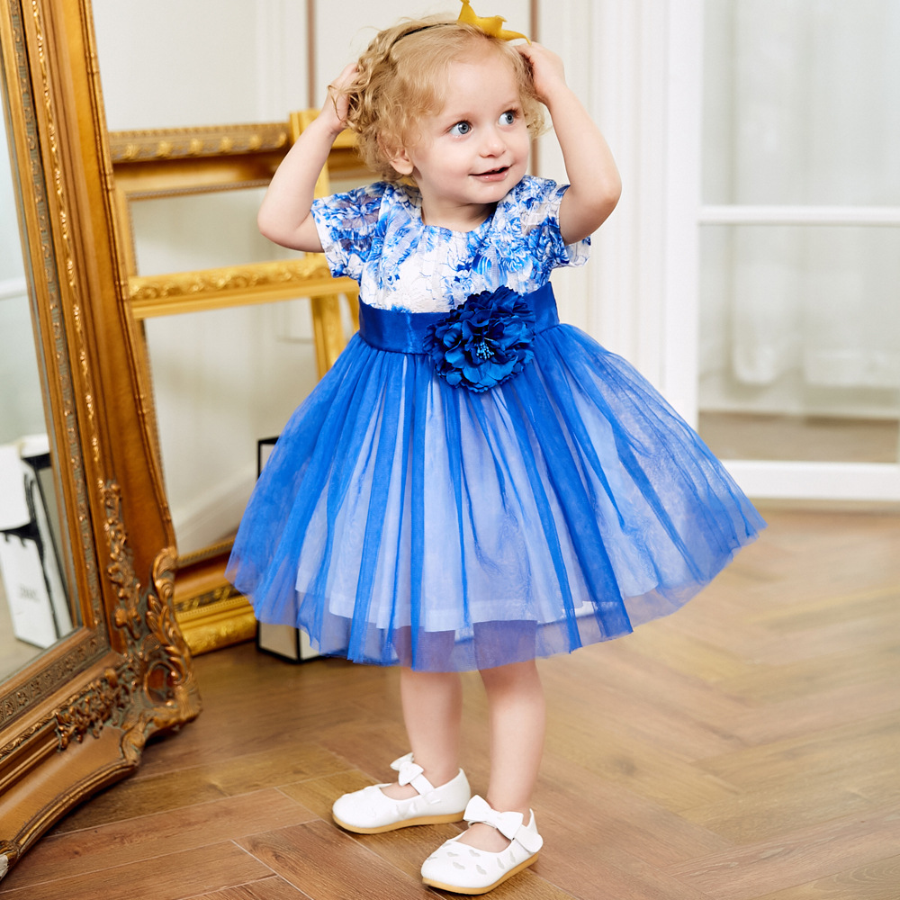 Baby Dresses 2018 New Spring Autumn Baby Girls Clothes Lace Flower Girl Party Dress Princess Dress 6years Newborn Children Dress