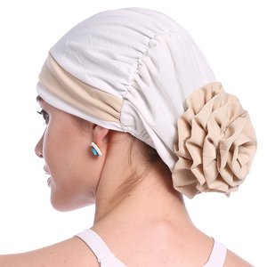 Image 5 - Haimeikang Autumn Winter Women Folded Turban Chemo Cap Hair Bands for Women Muslim Flower Headwrap Headbands Hair Accessories