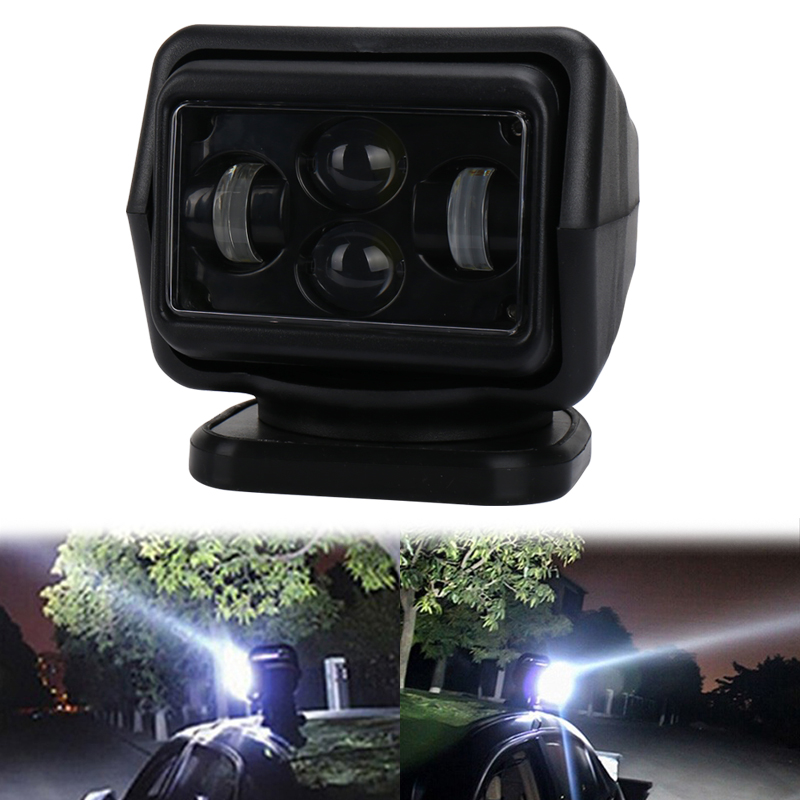 Led Searchlight Wireless Remote Control 7 Inch 60W Led Spotlight Marine Light for Off Road vehicles