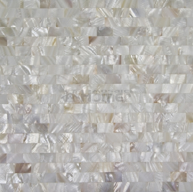 White Mother Of Pearl Mosaic Brick Pattern Freshwater Shell Mosaic, Kitchen Backsplash  Tiles, Bathroom